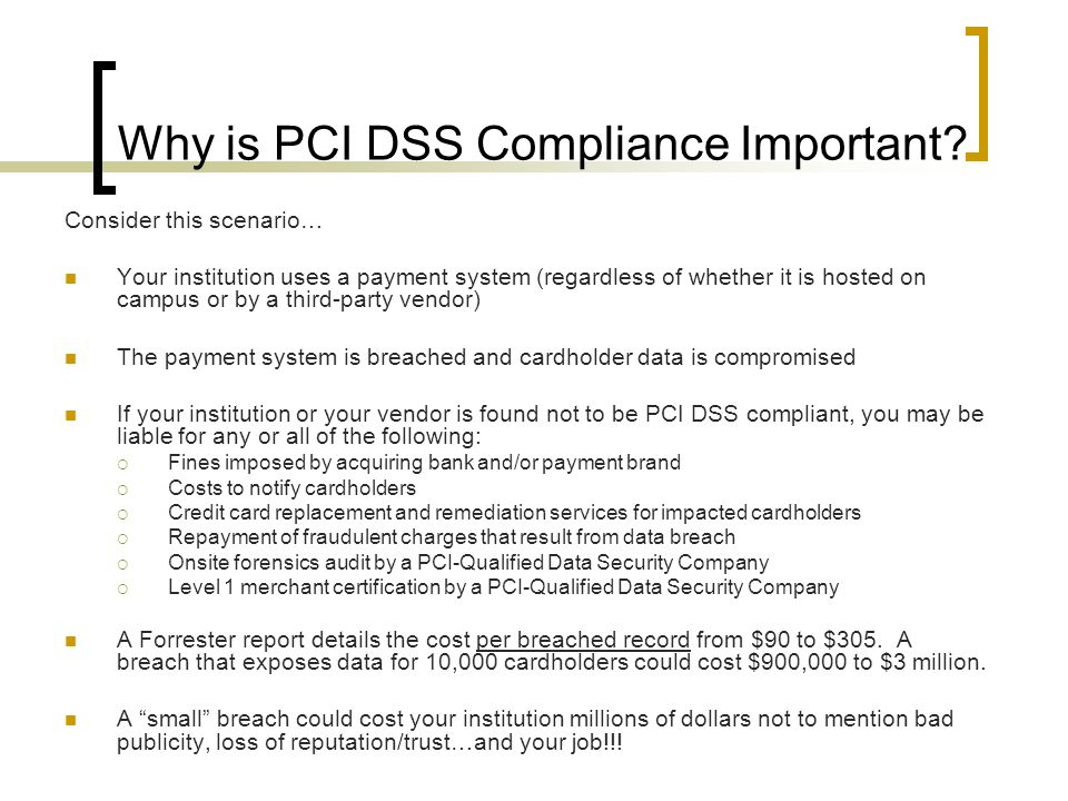 Why is PCI DSS Compliance Important