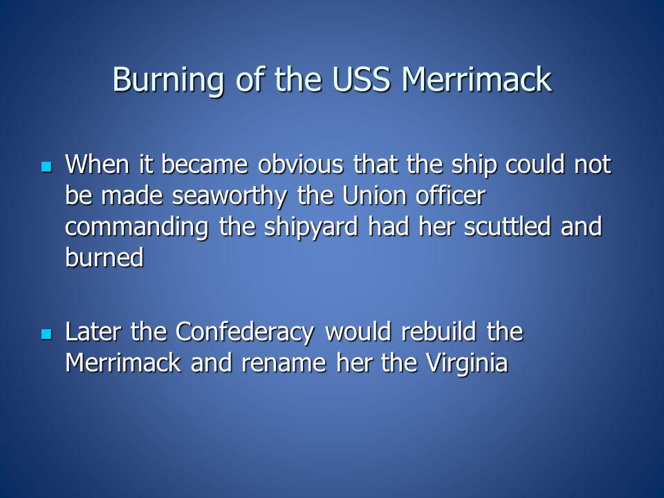 Burning of the USS Merrimack