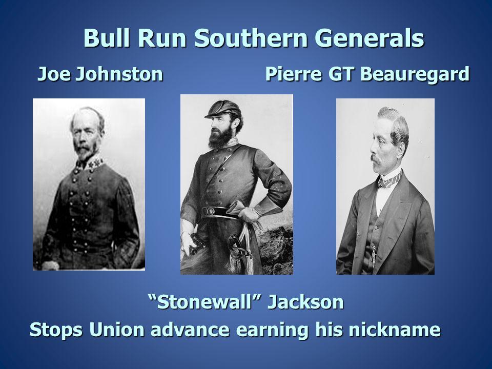 Bull Run Southern Generals Joe Johnston Pierre GT Beauregard
