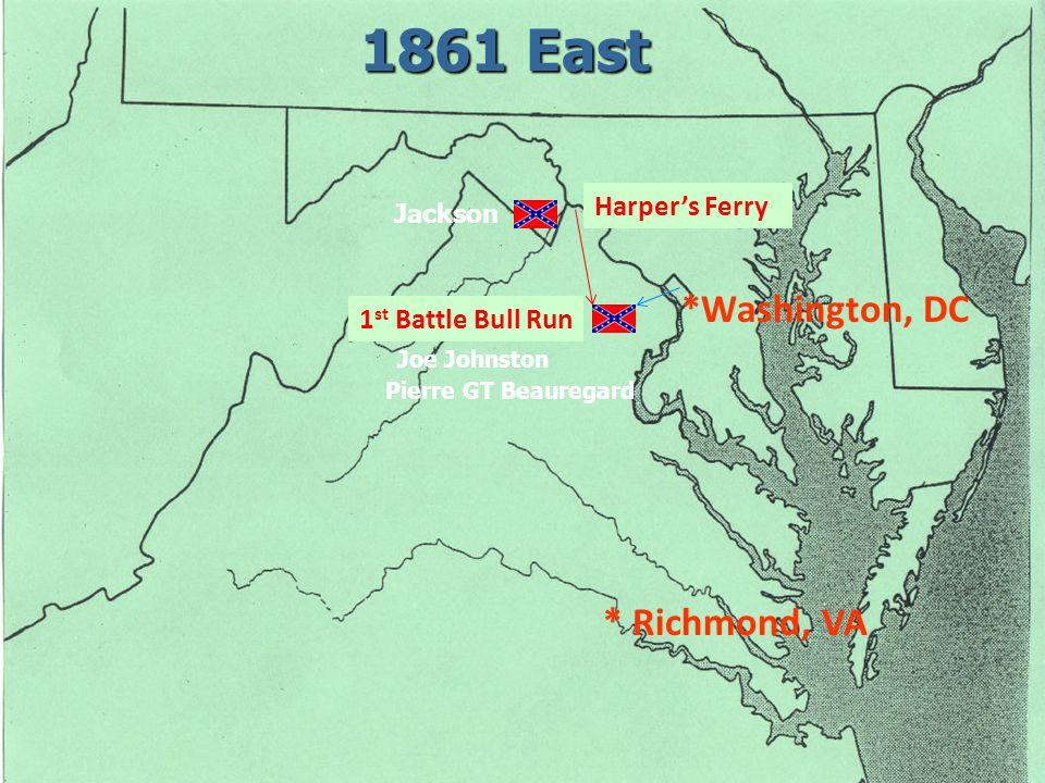 East *Washington, DC Joe Johnston * Richmond, VA Harper's Ferry