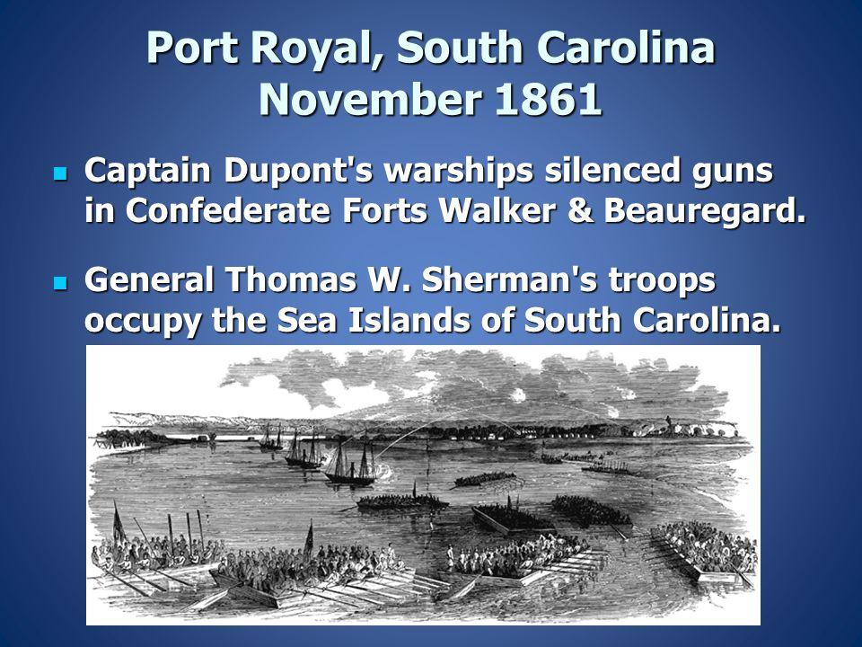 Port Royal, South Carolina November 1861