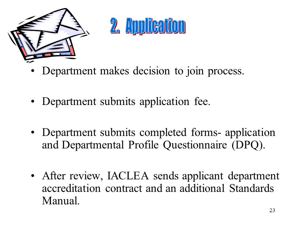 2. Application Department makes decision to join process.