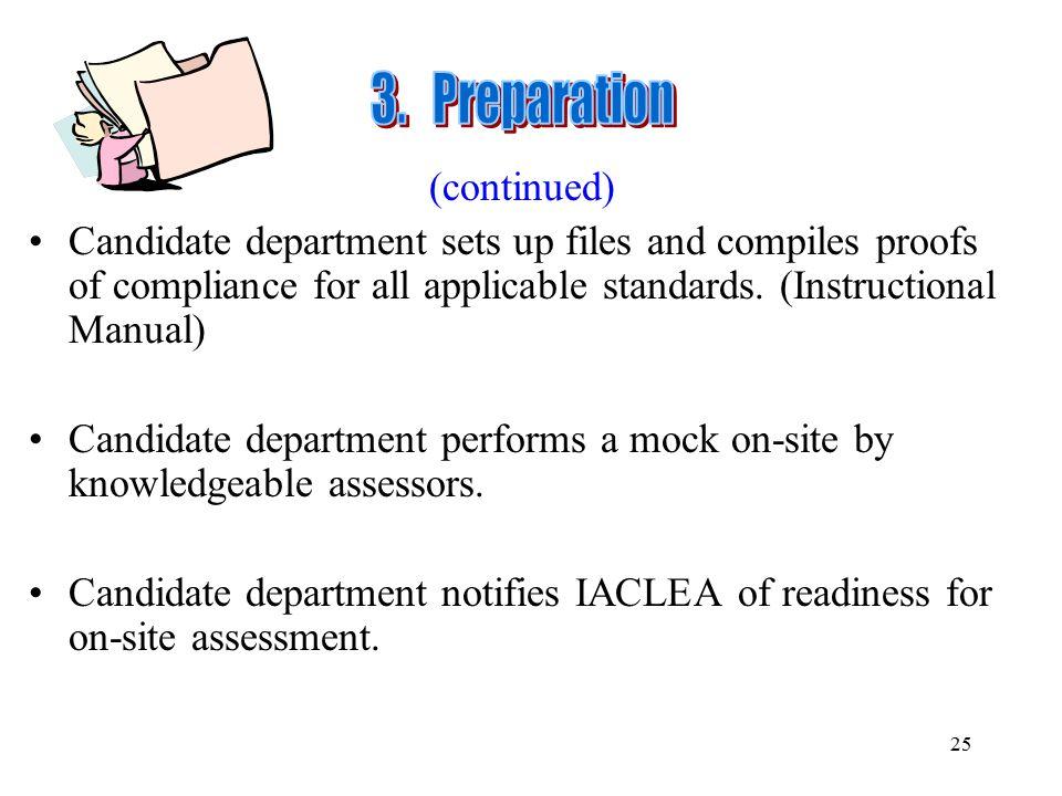 3. Preparation (continued)