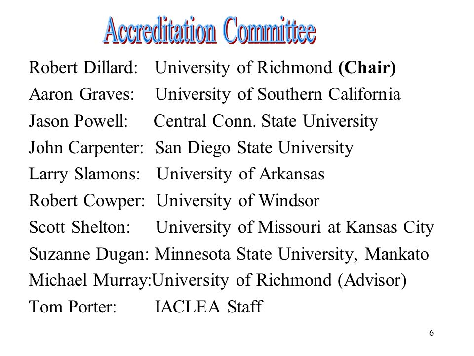 Accreditation Committee