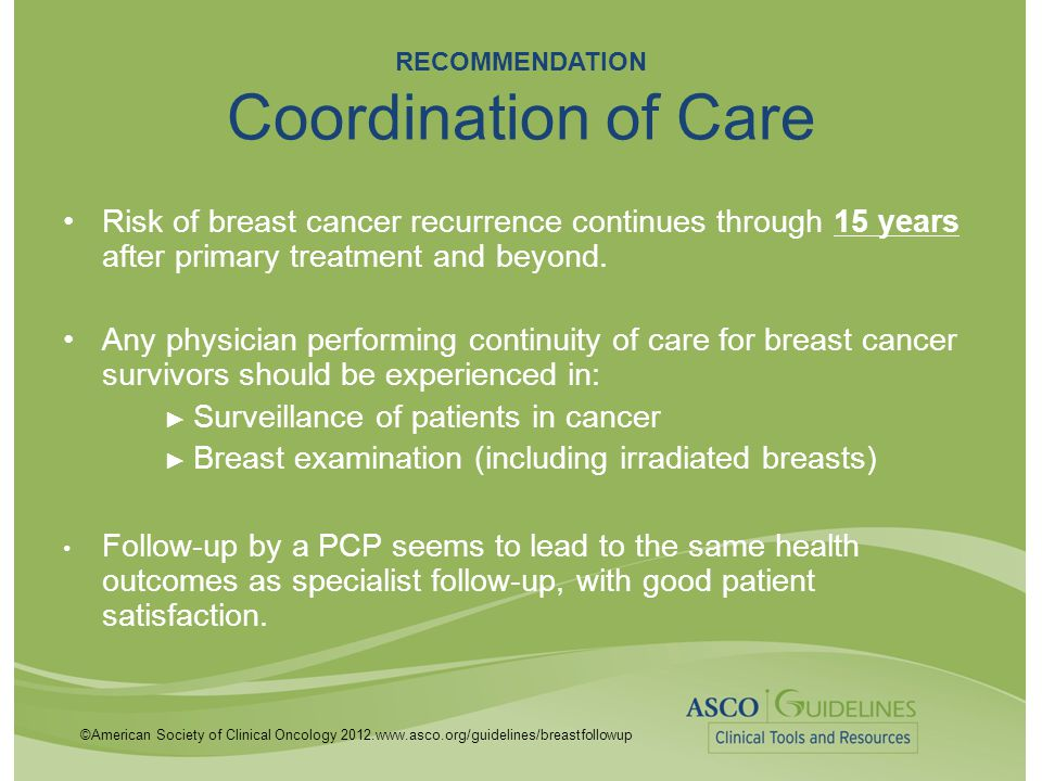 RECOMMENDATION Coordination of Care