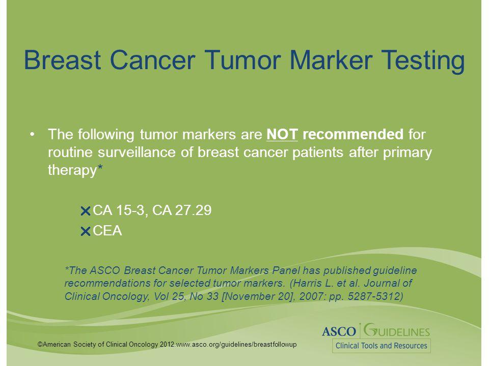 Breast Cancer Tumor Marker Testing
