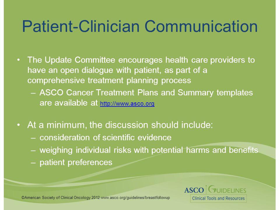 Patient-Clinician Communication