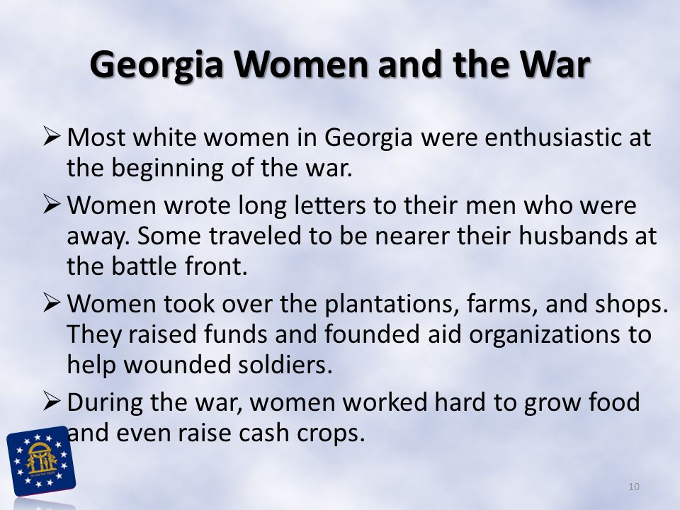 Georgia Women and the War