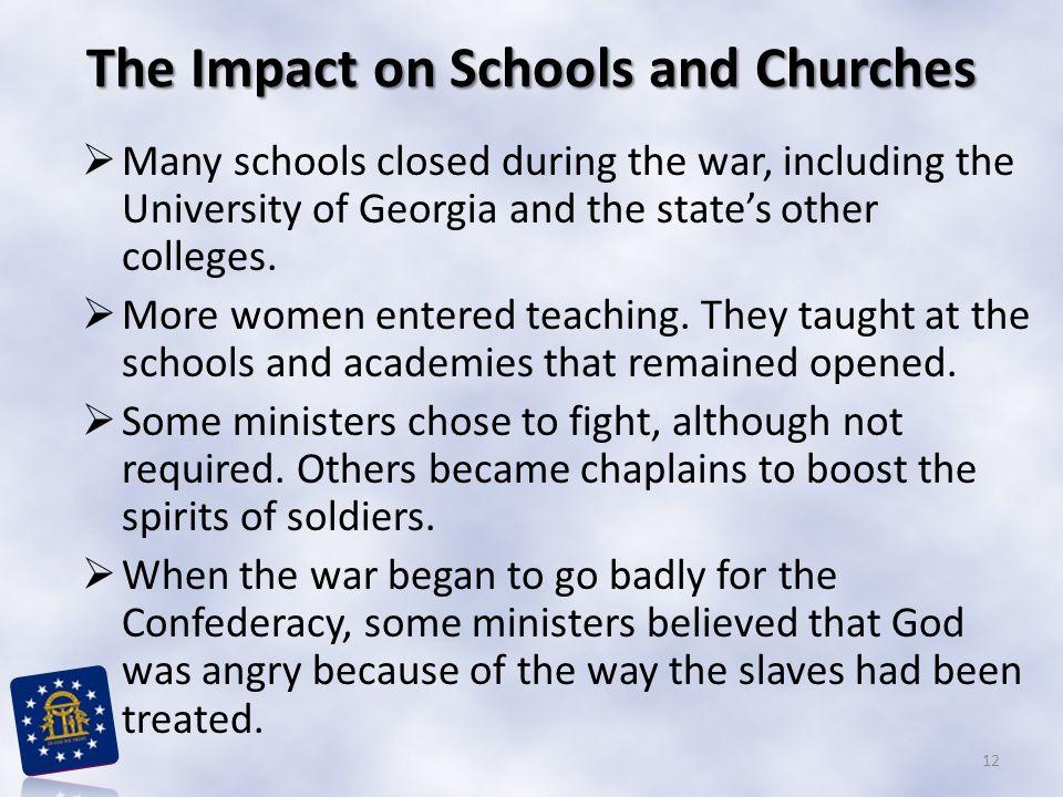The Impact on Schools and Churches