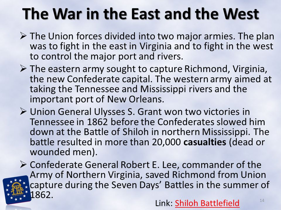 The War in the East and the West