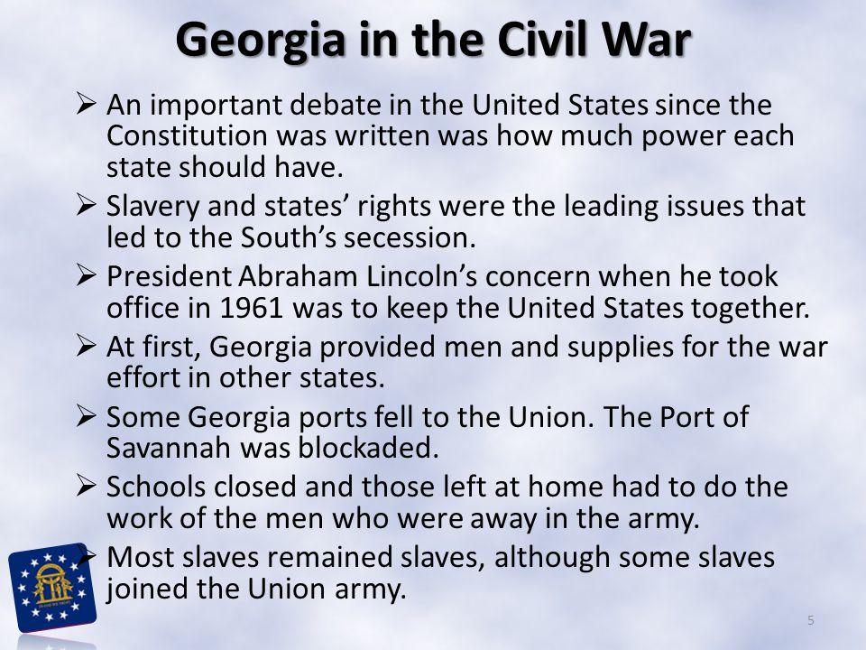 Georgia in the Civil War