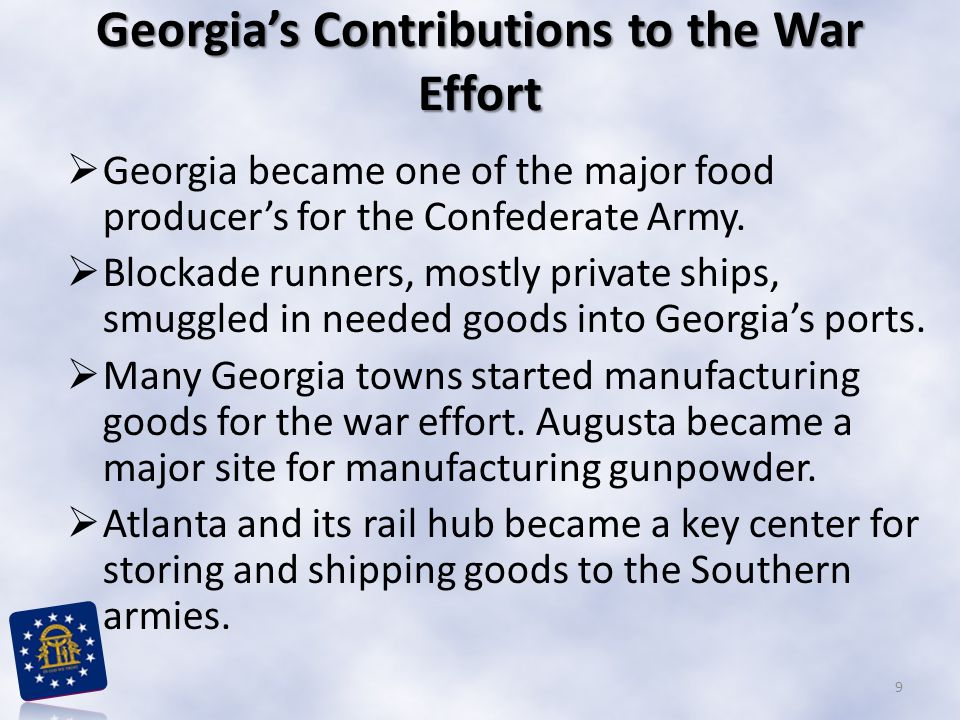 Georgia's Contributions to the War Effort