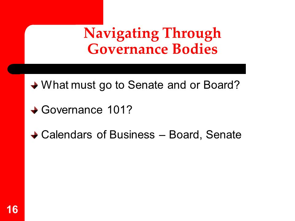 Navigating Through Governance Bodies