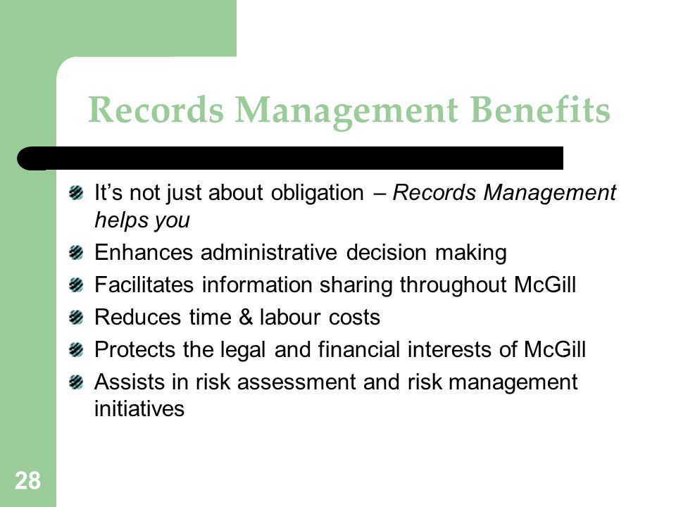 Records Management Benefits