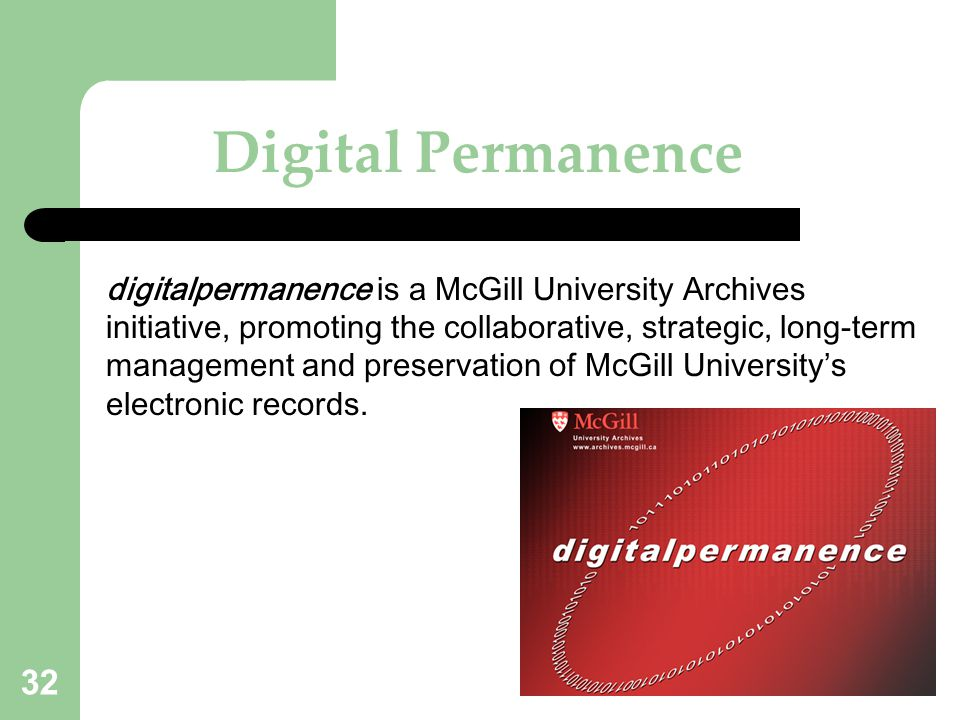 Digital Permanence