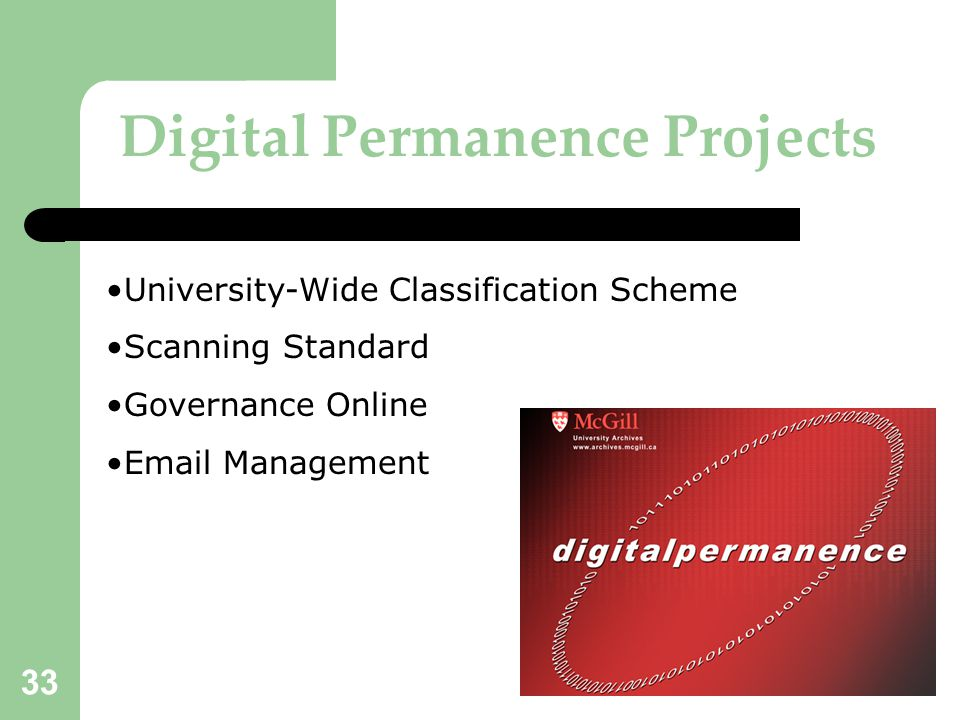 Digital Permanence Projects