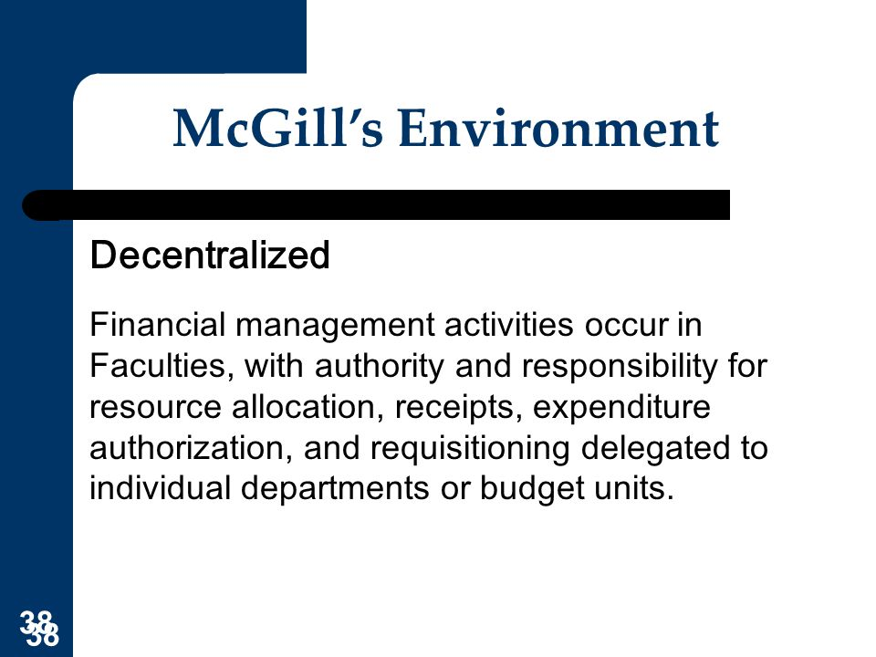 McGill's Environment Decentralized