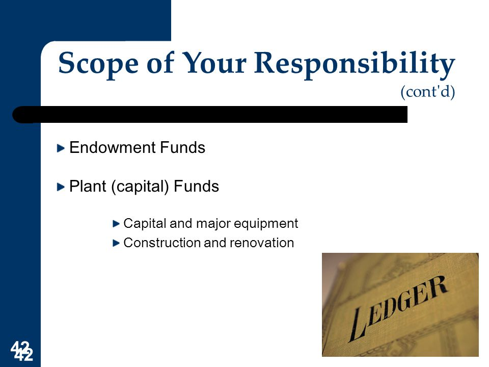 Scope of Your Responsibility (cont d)