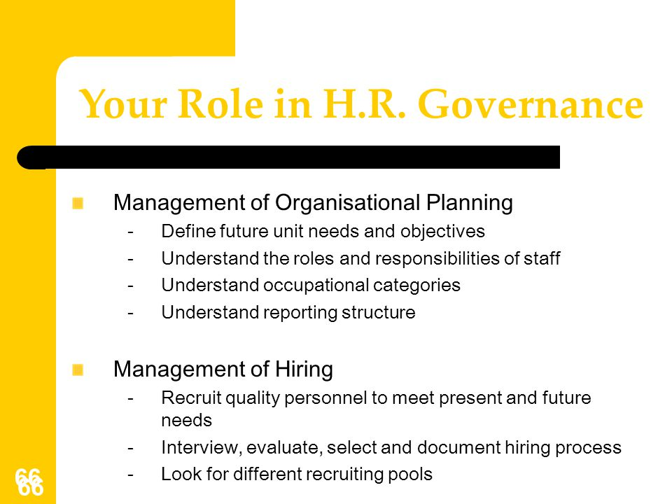Your Role in H.R. Governance