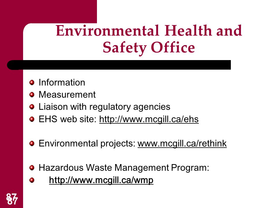 Environmental Health and Safety Office
