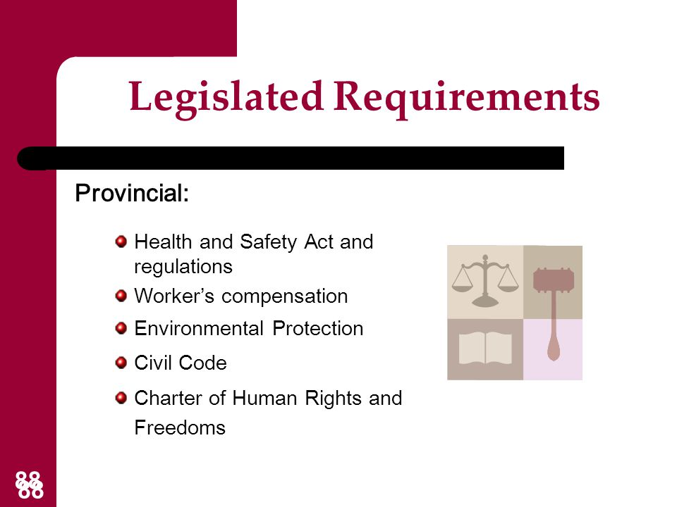 Legislated Requirements