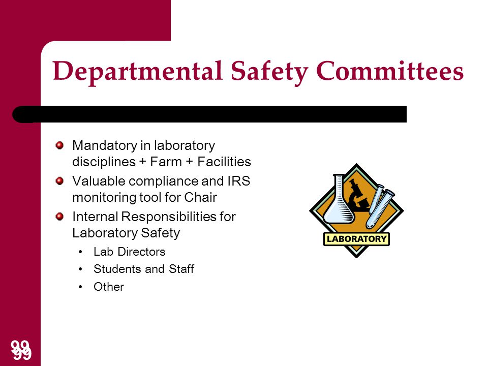 Departmental Safety Committees