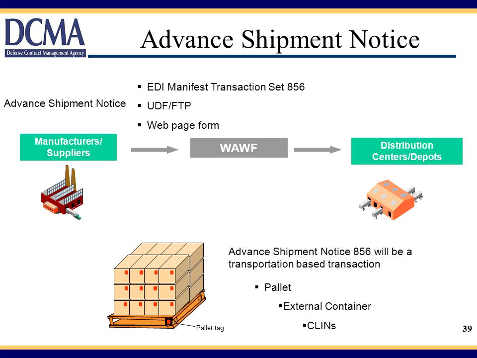 Advance Shipment Notice