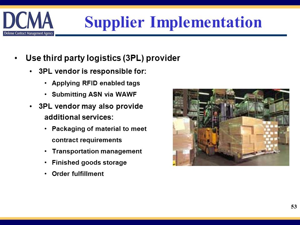 Supplier Implementation