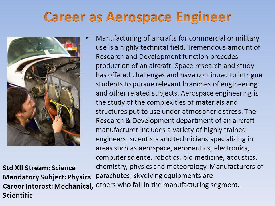 Career as Aerospace Engineer