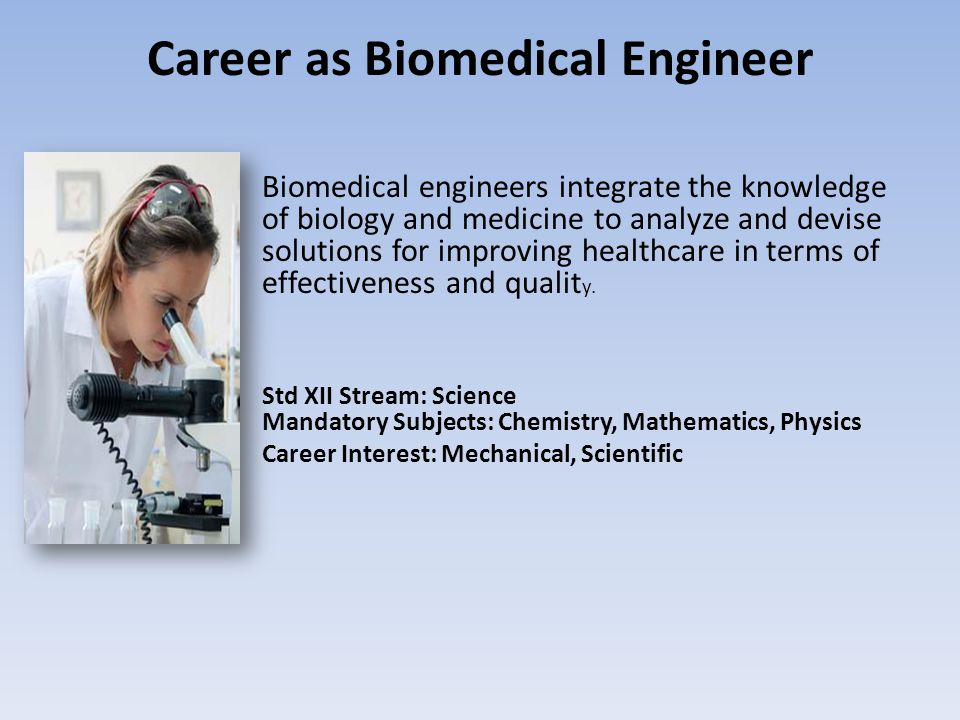 Career as Biomedical Engineer