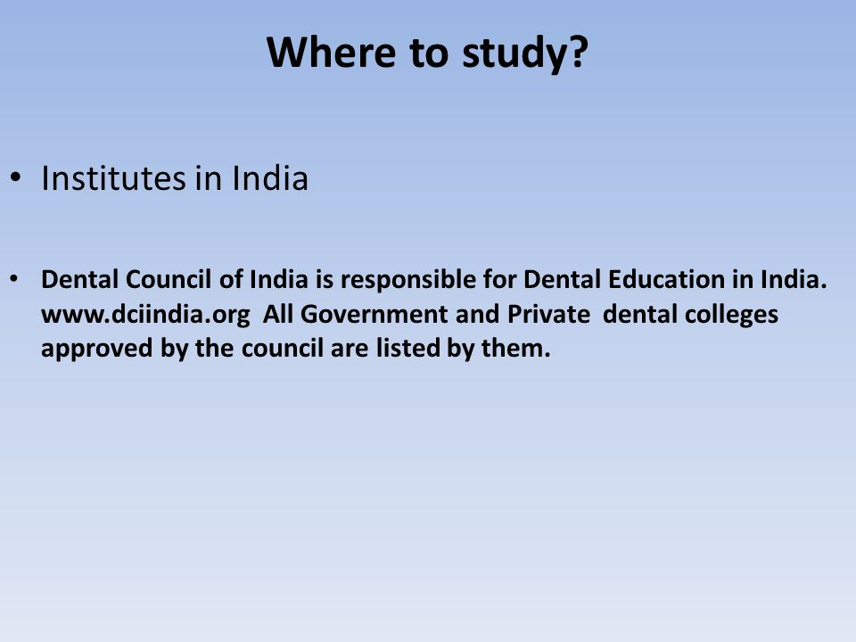 Where to study Institutes in India