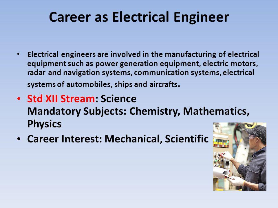 Career as Electrical Engineer