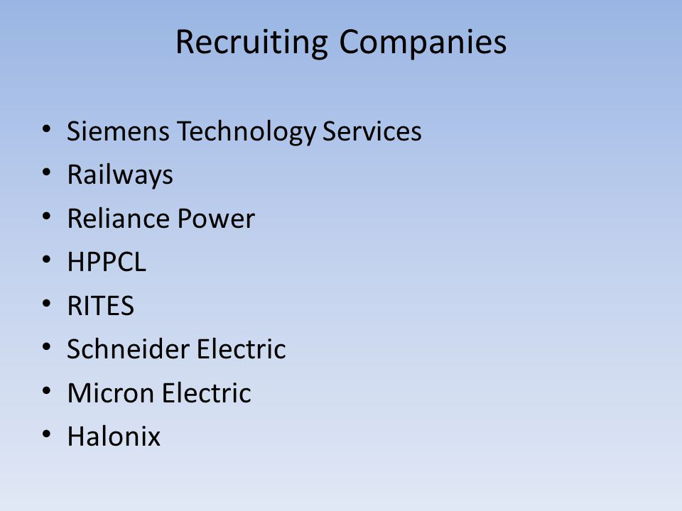 Recruiting Companies Siemens Technology Services Railways