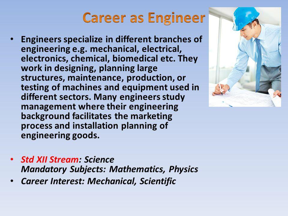 Career as Engineer