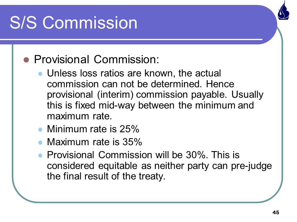 S/S Commission Provisional Commission: