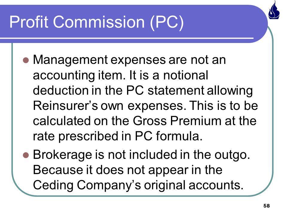 Profit Commission (PC)