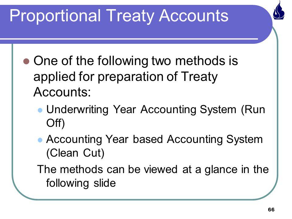 Proportional Treaty Accounts