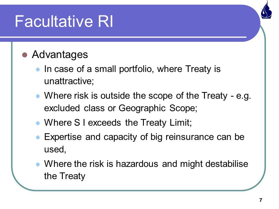 Facultative RI Advantages