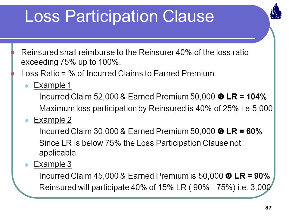 Loss Participation Clause