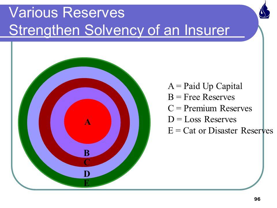 Various Reserves Strengthen Solvency of an Insurer