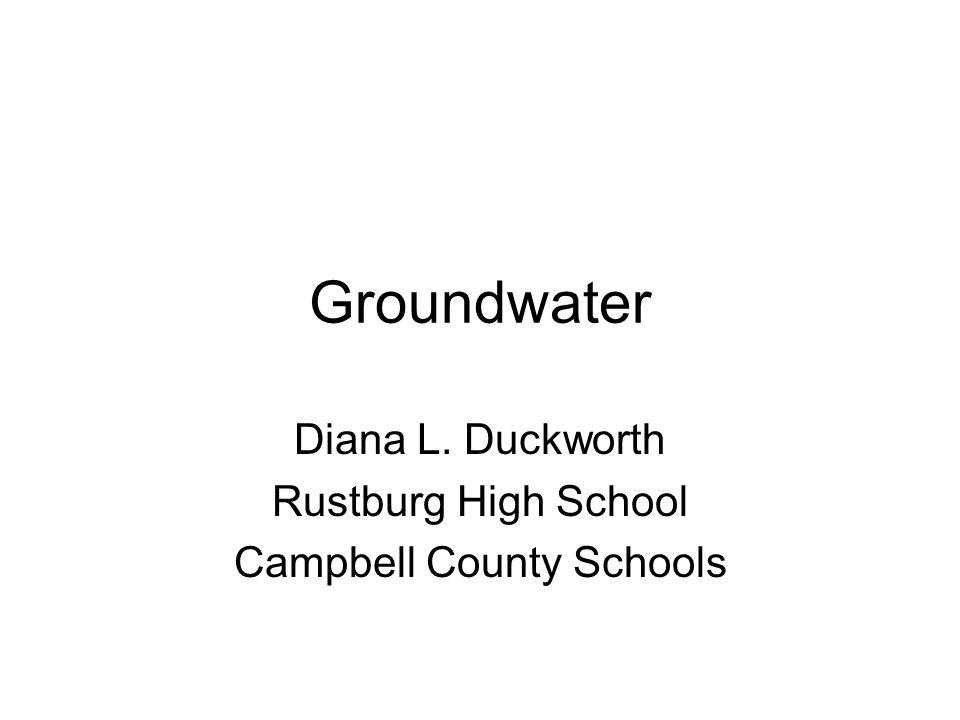 Diana L. Duckworth Rustburg High School Campbell County Schools