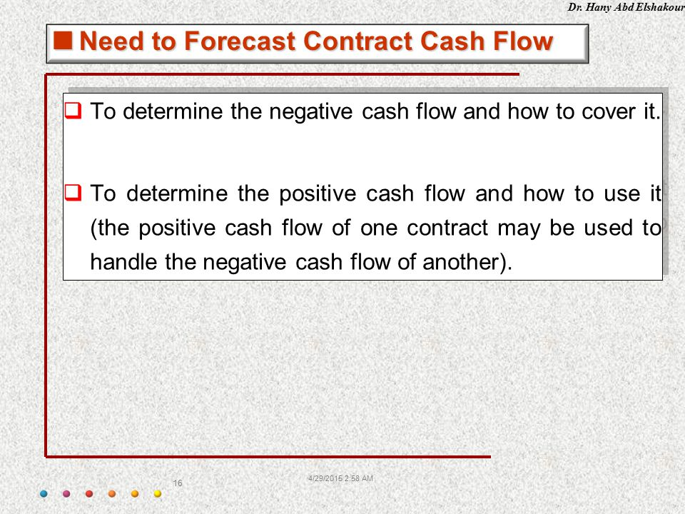 Need to Forecast Contract Cash Flow
