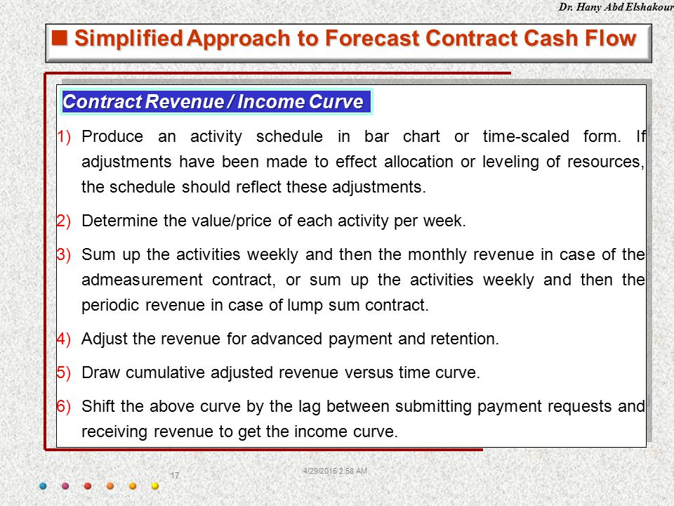 Simplified Approach to Forecast Contract Cash Flow