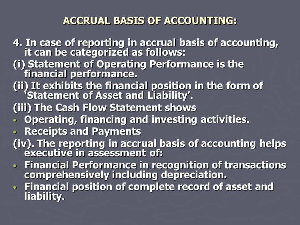ACCRUAL BASIS OF ACCOUNTING: