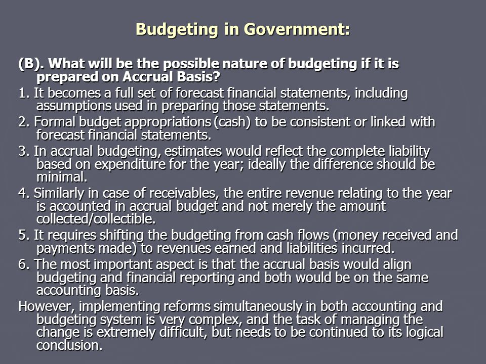Budgeting in Government: