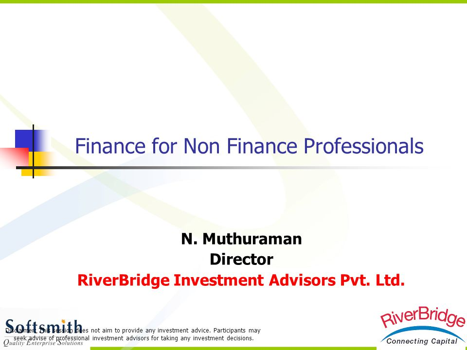 Finance for Non Finance Professionals