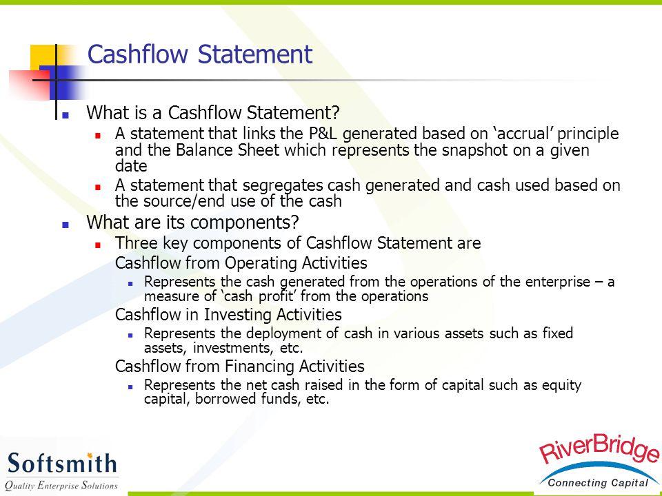 Cashflow Statement What is a Cashflow Statement