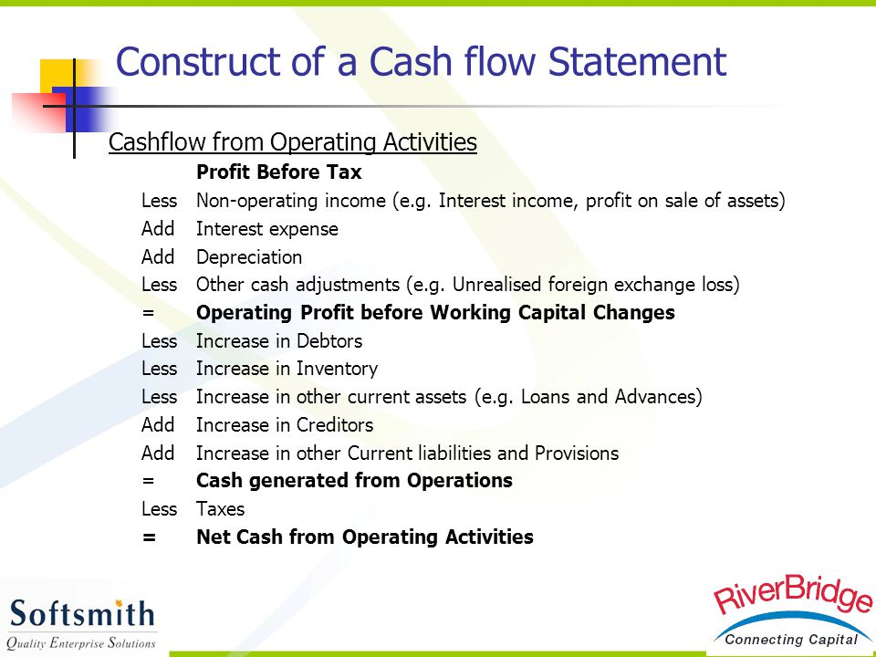 Construct of a Cash flow Statement