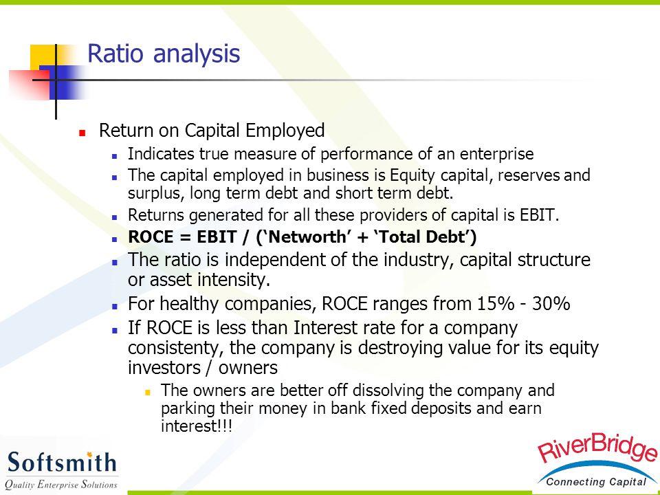 Return on Capital Employed - Profit Margin Ratio