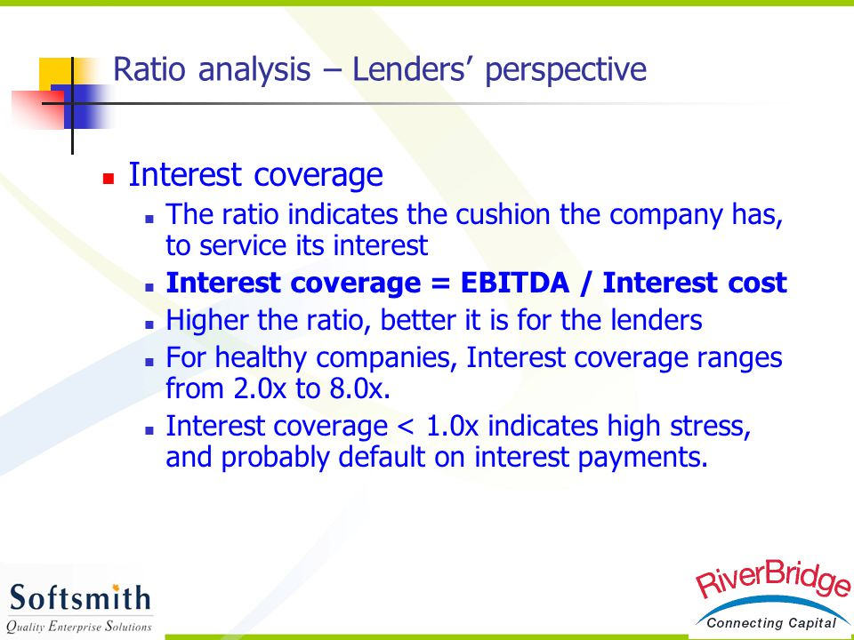 Ratio analysis – Lenders' perspective